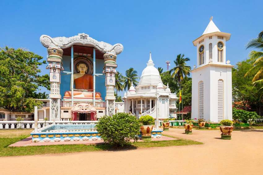 Een tempel in Negombo<br>
